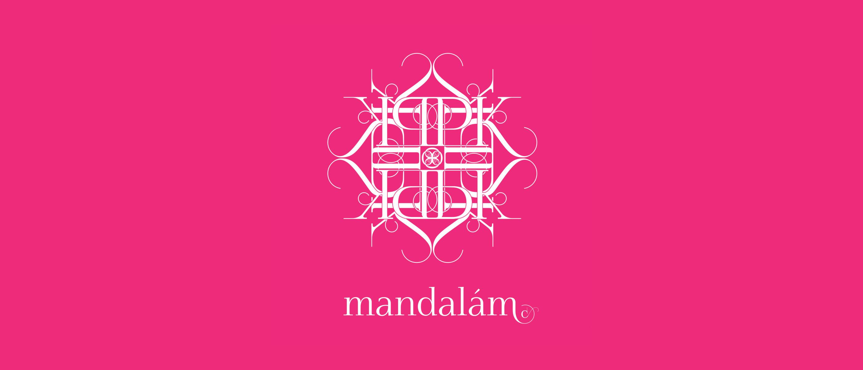 Személyes mandala monogramból, vagy egyszerű jelből