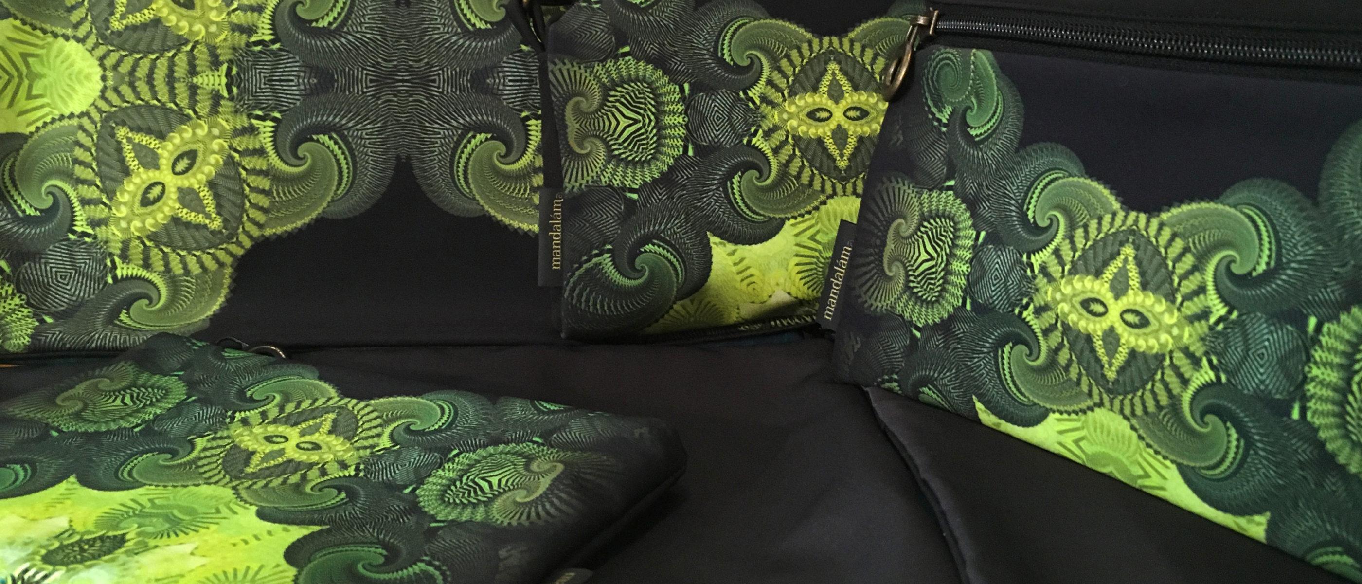egyedi táska, mandala minta, cserélhető előlapos kis táska
